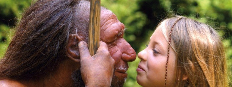 Meet the Neanderthal man up close.