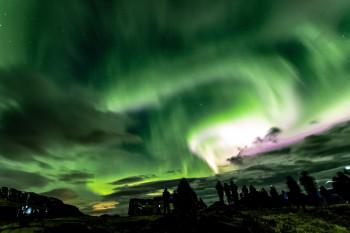 Spectacular Northern Lights on April 12, 2018.