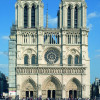 Notre Dame's twin bell towers.