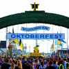 The main entrance of the Oktoberfest.