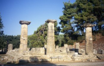 The remains of the temple of Hera