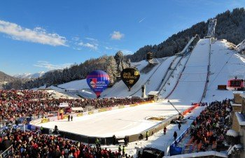 The Olympic ski jump is one of the venues of the Four Hills Tournament.