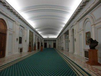 Majestic hallways inside the palace