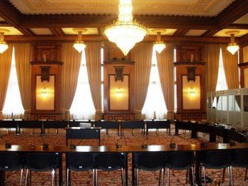 The conference room is regularly used for conferences