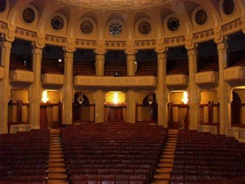 The palace even has its very own theatre hall