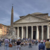 View on the Pantheon in Rome from the square