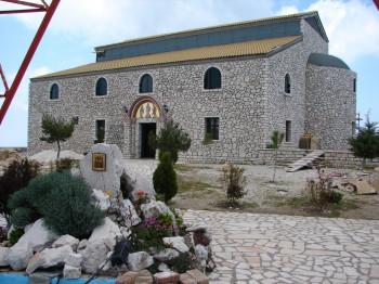 The church on Pantokrator Mountain