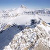 View Point at Scex Rouge, Glacier 3000, in Switzerland with its attraction Peak Walk by Tissot.