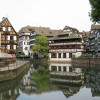 View of the half-timbered houses from the river