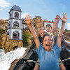 With the mine roller coaster Colorado Adventure you drive through steep curves, rocks and gorges.