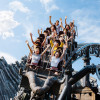 """As the world's fastest multi-launch coaster, """"Taron"""" races high-speed through mystical canyons."""
