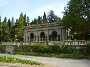 The pavilion built by Poggi