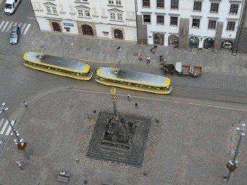 Tram at the Republic Square