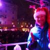 DJ James Munich keeps the diverse crowds entertained.
