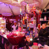 Traditional as well as extravagant goods are on offer inside the elegant white tents.