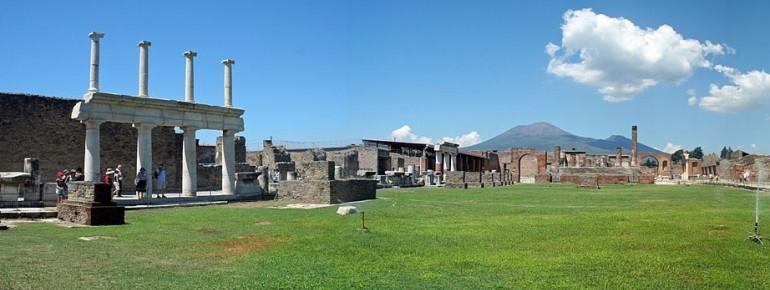 The famous forum of Pompeii