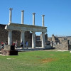 The famous forum of Pompeii