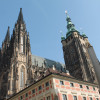 The towers of St. Vitus Cathedral characterise the image of the castle.