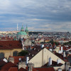 From up here you get a great view over Prague.