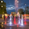 Check out the amusement park's fountain shows, which are a nice thing to explore in the dark.