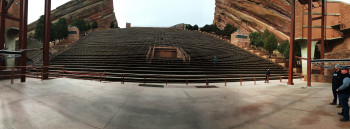 View from the stage of the fascinating naturally-occuring, acoustically perfect amphitheater.