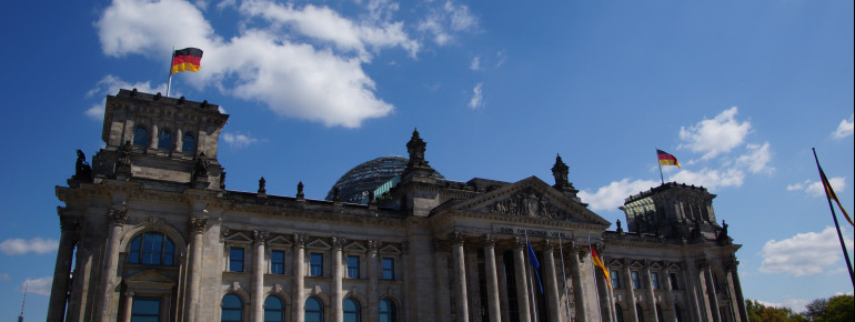 The Reichstag building is a symbol of German democracy.