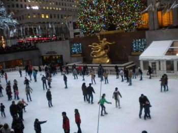 Ice Rink in front of Rockefeller Center