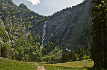 Röthbach Waterfall is the highest waterfall in Germany.