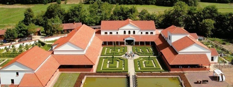 View over Roman Villa Borg.