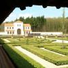 The garden of Roman Villa Borg.