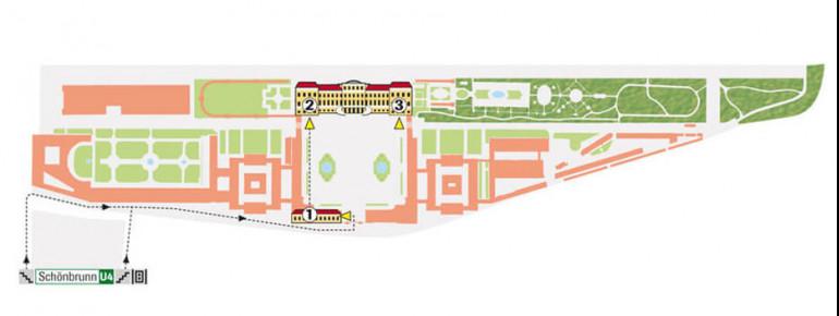 Map of Schönbrunn Palace