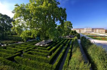 The Maze at Schönbrunn was laid out around 1720.