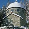 Segantini Museum covered in snow