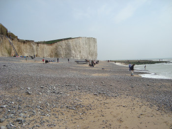 Take a walk along the beach underneath the seven sisters.