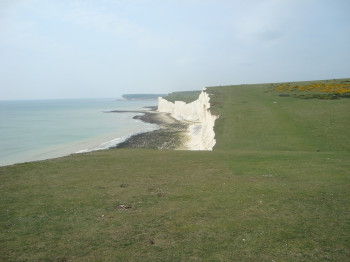 View over parts of the Seven Sisters in Sussex.