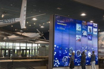 Interactive Wall in the Boeing Milestones of Flight Hall.