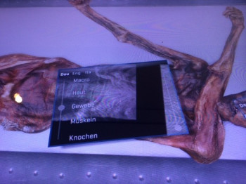"""On an """"Ötzi-sized"""" tablet you can marvel at the body of the Iceman in different ways"""