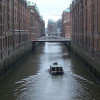 The characteristic Baroque buildings of Speicherstadt.