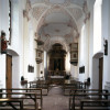 Glimpse into pilgrimage church St. Bartholomew's interior.