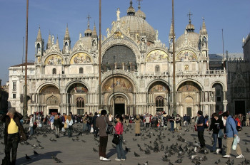 View on St Mark's Basilica from St Mark's Square