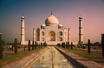 The impressive mausoleum is India's most important landmark.