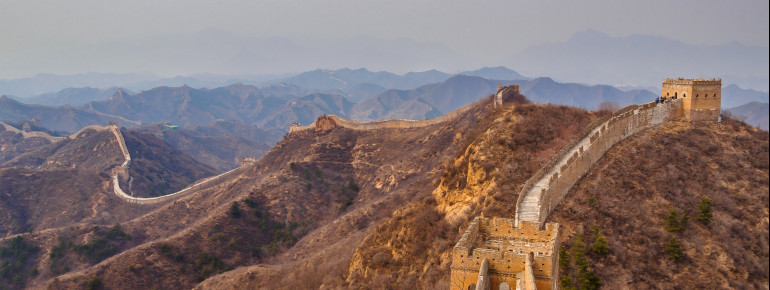 The Great Wall with its watch towers was originally meant for defence purposes.