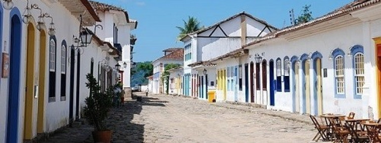 Typical façades of Paraty houses