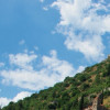The castle of Mystras on top of the mountainside