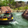 The wild water ride Piraña takes adventorous visitors through the Inca empire.