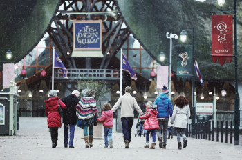 Efteling is open all year - even in the winter.