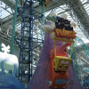 Spongebob squarepants roller coaster within the Nickelodeon Universe
