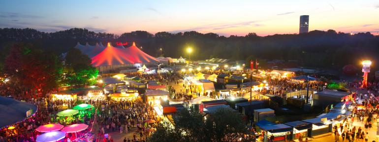The summer festival at Olympiapark.
