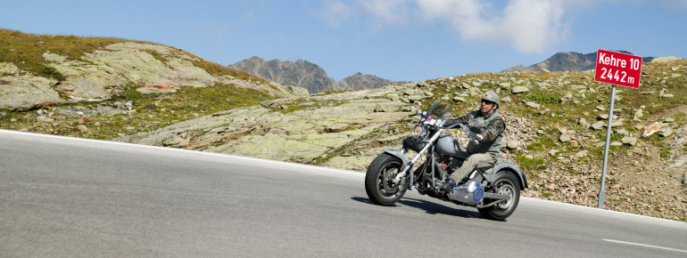 The museum is located at the most attractive motorcycle route across the Alps.