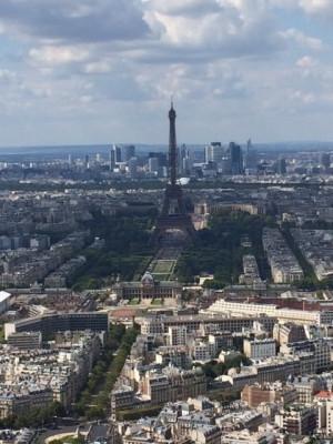 From atop Tour Montparnasse you enjoy a panorama view over Paris